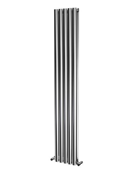 Picture of OLIVER 290mm Wide 1800mm High Elliptical Tube Stainless Steel Radiator- Polished Double