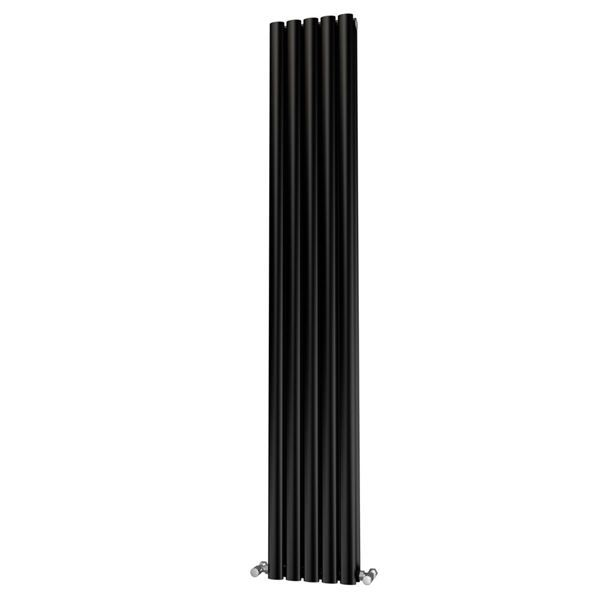 Picture of OLIVER 290mm Wide 1800mm High Elliptical Tube Radiator - Black Double