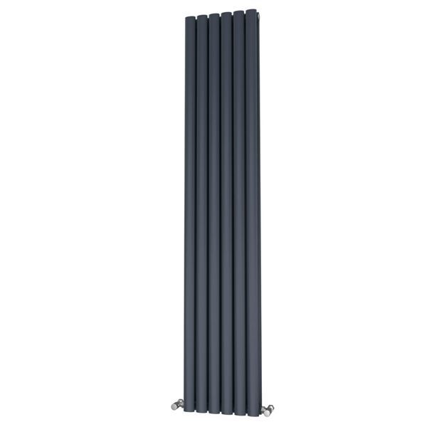Picture of OLIVER 348mm Wide 1600mm High Elliptical Tube Radiator - Anthracite Double
