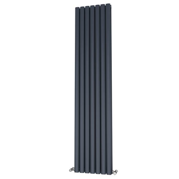 Picture of OLIVER 406mm Wide 1800mm High Elliptical Tube Radiator - Anthracite Double