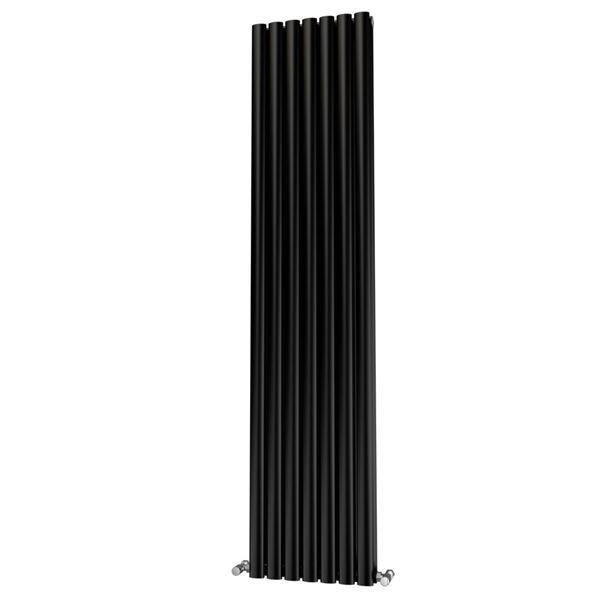 Picture of OLIVER 406mm Wide 1800mm High Elliptical Tube Radiator - Black Double