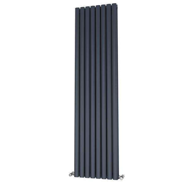 Picture of OLIVER 464mm Wide 1800mm High Elliptical Tube Radiator - Anthracite Double
