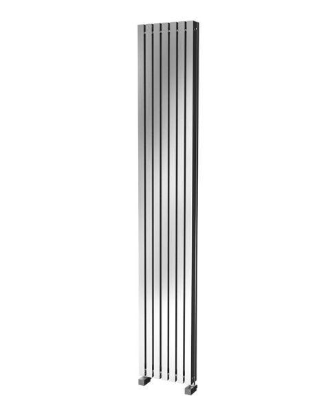 Picture of LUISA 298mm Wide 1800 High Aluminium Radiator - Oxidised
