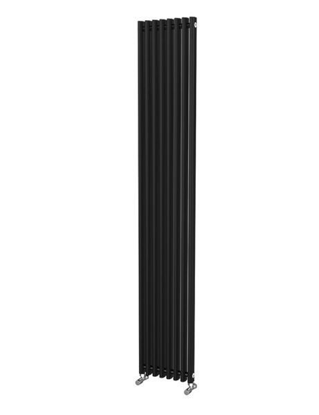 Picture of LOLA 305mm Wide 1800mm High Aluminium Radiator - Black Single