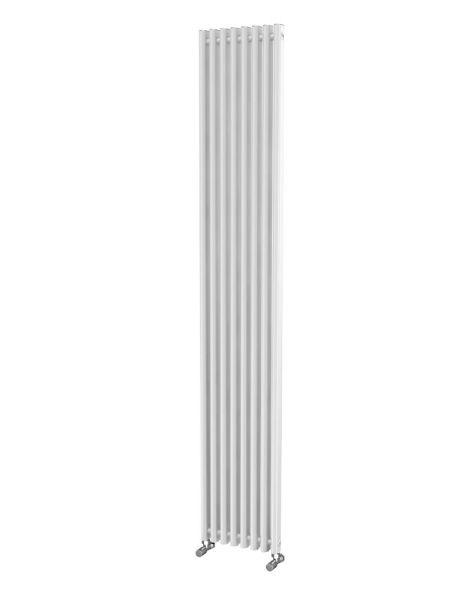 Picture of LOLA 305mm Wide 1800mm High Aluminium Radiator - White Single