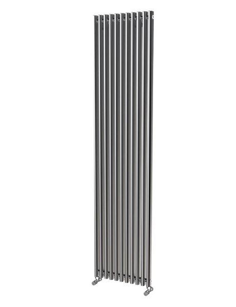 Picture of LOLA 425mm Wide 1800mm High Aluminium Radiator - Oxidised Single