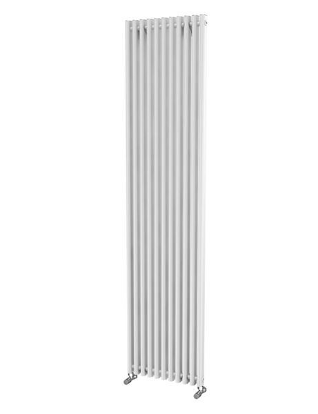 Picture of LOLA 425mm Wide 1800mm High Aluminium Radiator - White Single