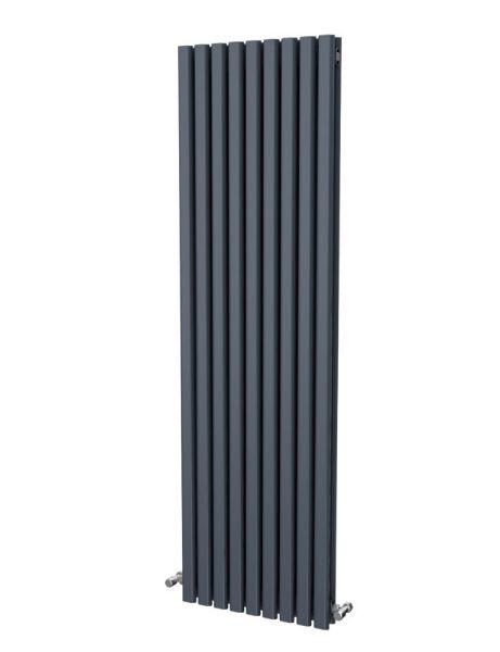 Picture of ELDA 530mm Wide 1800mm High Aluminium Radiator - Anthracite Double