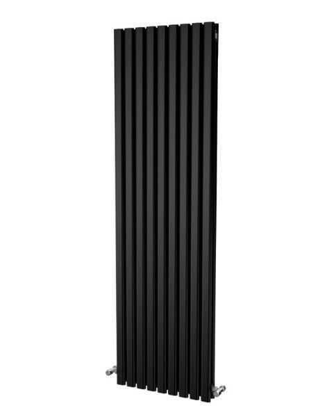 Picture of ELDA 530mm Wide 1800mm High Aluminium Radiator - Black Double