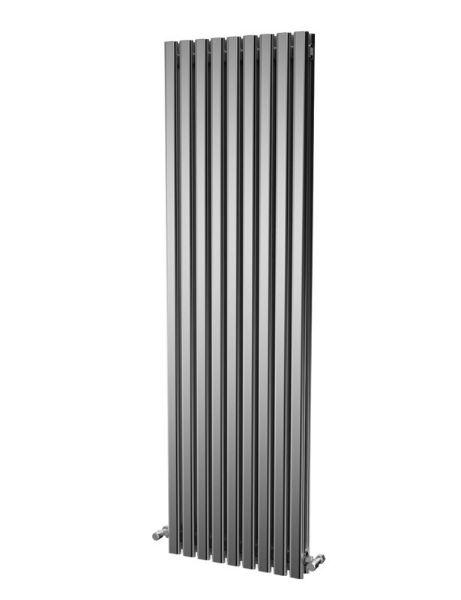 Picture of ELDA 530mm Wide 1800mm High Aluminium Radiator - Oxidised Double