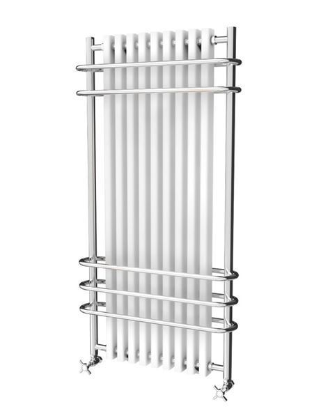 Picture of LADONNA 570mm Wide 1000mm High Aluminium Traditional Column Radiator - White