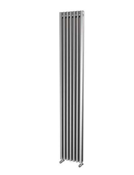 Picture of ORLANDA 296/1800 Oval Tube Aluminium Radiator - Oxidised