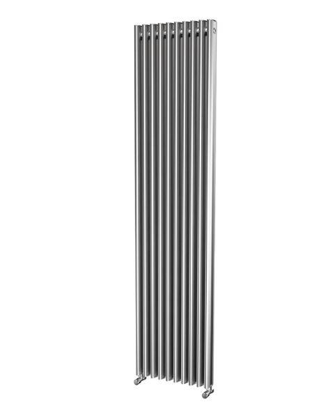 Picture of ORLANDA 425mm Wide 1800mm High Oval Tube Aluminium Radiator - Oxidised