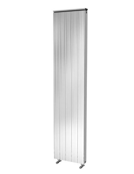 Picture of SAVANNAH 405mm Wide 1865mm High Flat Panel Aluminium Radiator - Oxidised