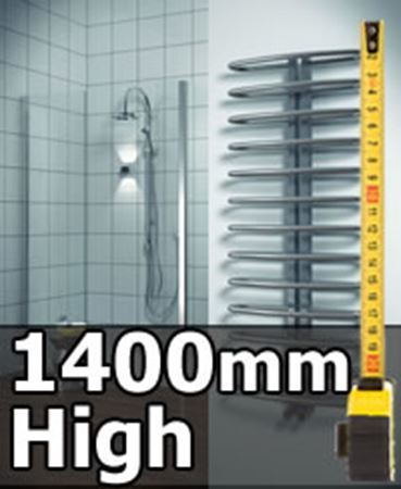 Picture for category 1400mm High Heated Towel Rails & Radiators