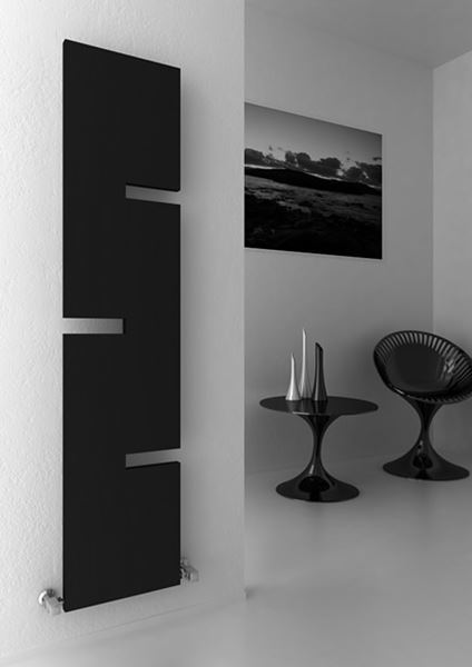 Picture of FIORE 400mm Wide 1800mm High ANTHRACITE Designer Radiator
