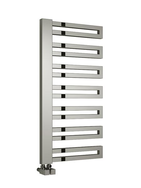 Picture of GINOSA 500mm Wide 1000mm High BLACK Designer Towel Radiator