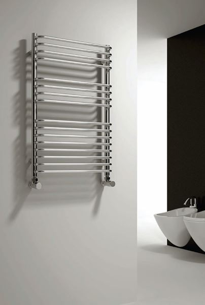 Picture of ISARO 500mm Wide 1100mm High Chrome Designer Radiator