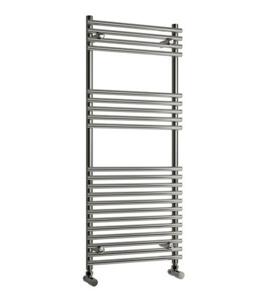 Picture of PAVIA 600mm Wide 1200mm High Chrome Designer Towel Radiator