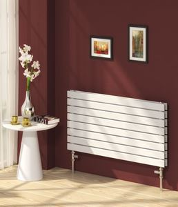 Picture of RIONE 600mm Wide 550mm High Designer Bathroom Radiator - White Double