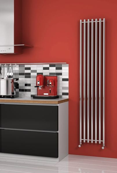 Picture of BRONI 374mm Wide 1200mm High Stainless Steel Designer Radiator