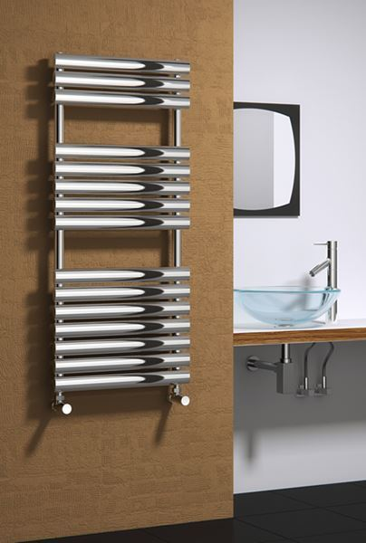 Picture of HELIN 500mm Wide 1120mm High Stainless Steel Designer Radiator