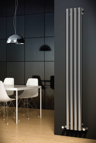 Picture of HARMONY 250mm Wide 1800mm High Stainless Steel Designer Radiator
