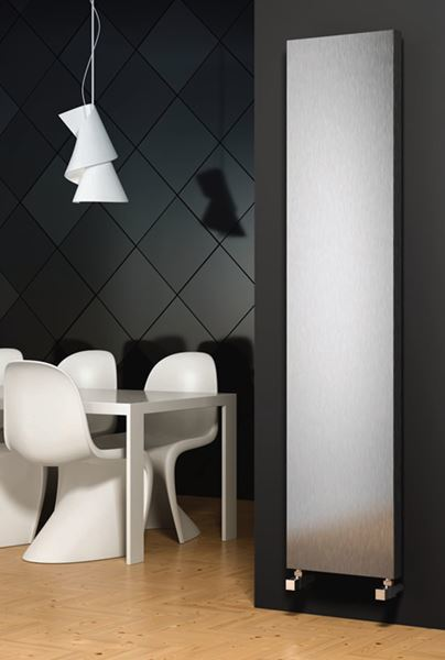 Picture of JUNO 300mm Wide 1500mm High Stainless Steel Designer Radiator