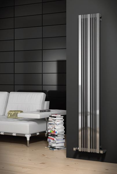 Picture of KARIA 300mm Wide 1800mm High Stainless Steel Designer Radiator