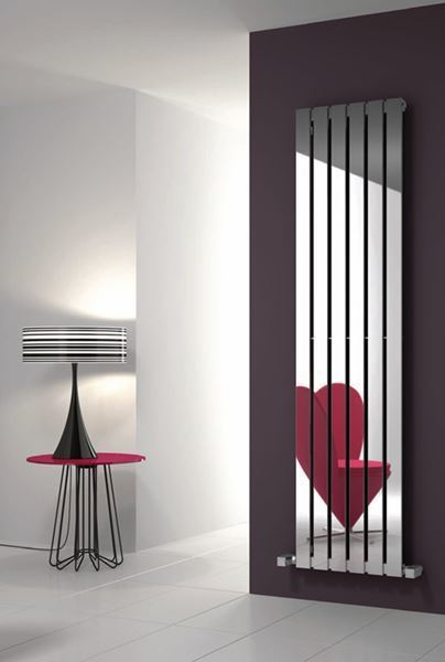 Picture of LAVIAN 285mm Wide 1800mm High Stainless Steel Designer Radiator