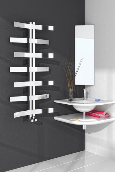 Picture of LIONI 600mm Wide 1200mm High Stainless Steel Designer Radiator