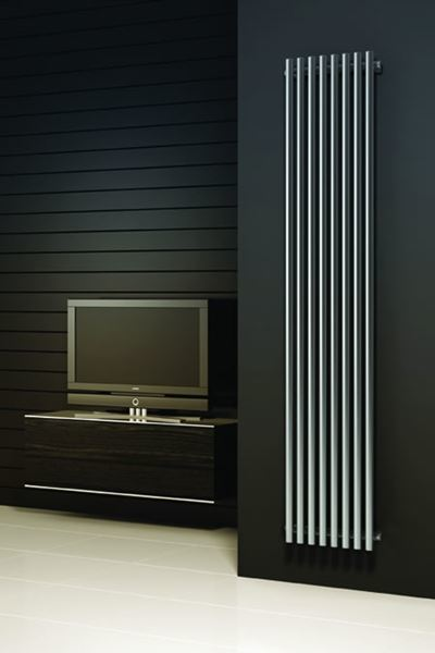 Picture of ORTHIA 295mm Wide 1800mm High Stainless Steel Radiator - Satin