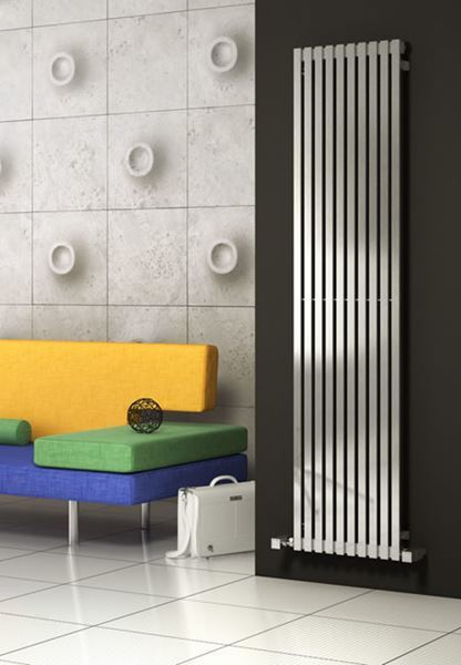 Picture of XEINA 331mm Wide 2000mm High Stainless Steel Designer Radiator