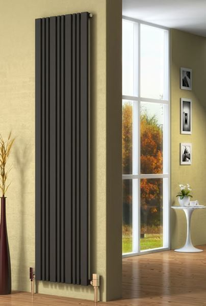 Picture of BONERA 324mm Wide 1800mm High Designer Radiator - Anthracite