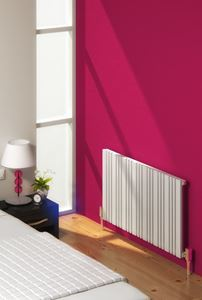 Picture of BONERA 984mm Wide 550mm High Designer Radiator - White