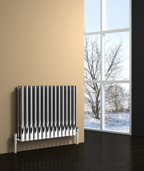 Picture of NEROX 413mm Wide 600mm High Column Radiator - Satin Double