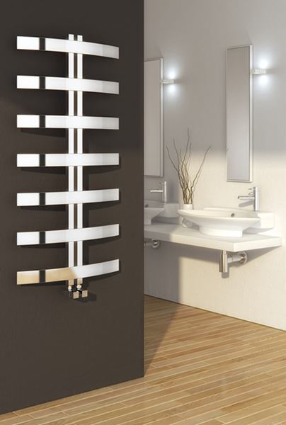 Picture of RIESI 600mm Wide 1200mm High Stainless Steel Designer Radiator