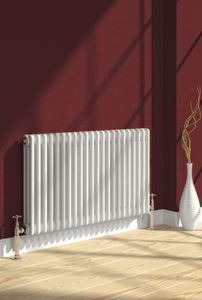 Picture of COLONA 1010mm Wide 300mm High Four Column White Radiator