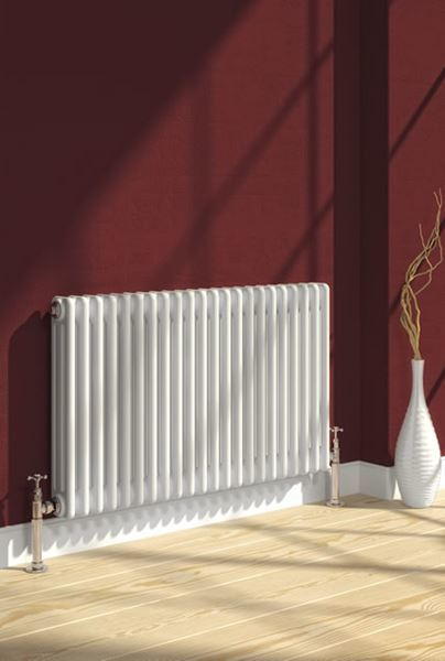 Picture of COLONA 1370mm Wide 300mm High Three Column White Radiator
