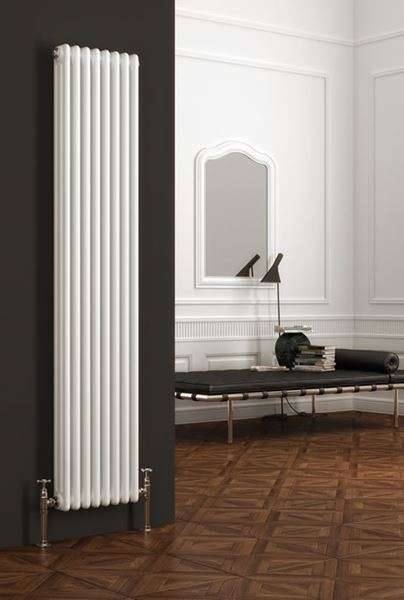 Picture of COLONA 380mm Wide 1800mm High Three Vertical White Radiator