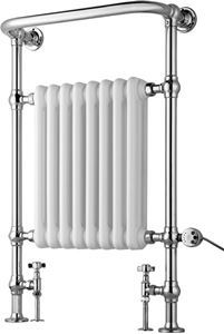 Picture of 8 Column Traditional Floor Standing Towel Rail 673mm Wide - 963mm High