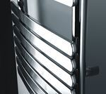 Picture of KOCA Chrome Curved Designer Towel Radiator - 500mm Wide 800mm High