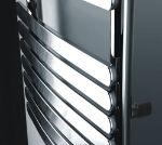 Picture of KOCA Chrome Curved Designer Towel Radiator - 600mm Wide 1000mm High