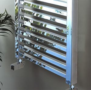 Picture of SAHLA Square Tube Chrome Towel Radiator - 450mm Wide 1200mm High
