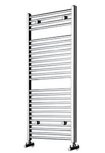 Picture of 500mm Wide 800mm High Chrome FLAT Eco Heated Towel Rail