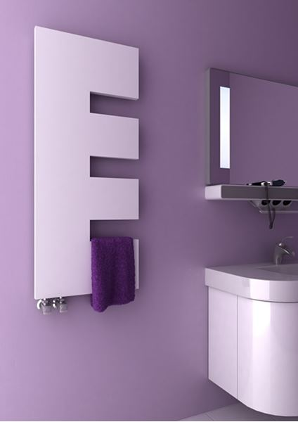 Picture of ELLA 500mm Wide 1200mm High WHITE Designer Towel Radiator
