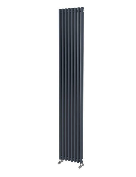 Picture of LOLA 425mm Wide 1800mm High Aluminium Radiator - Black Single