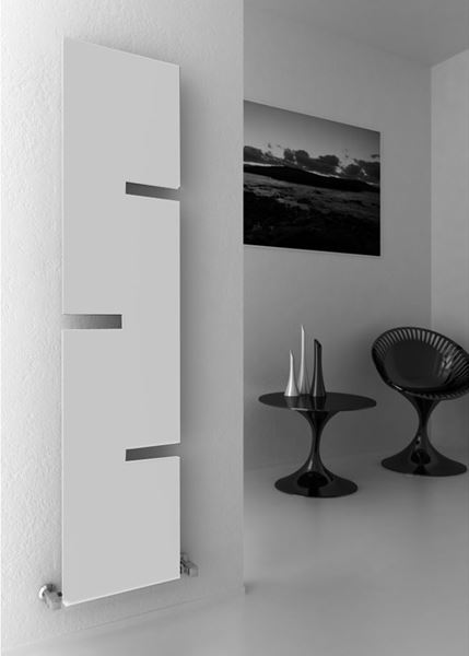 Picture of FIORE 400mm Wide 1800mm High WHITE Designer Radiator