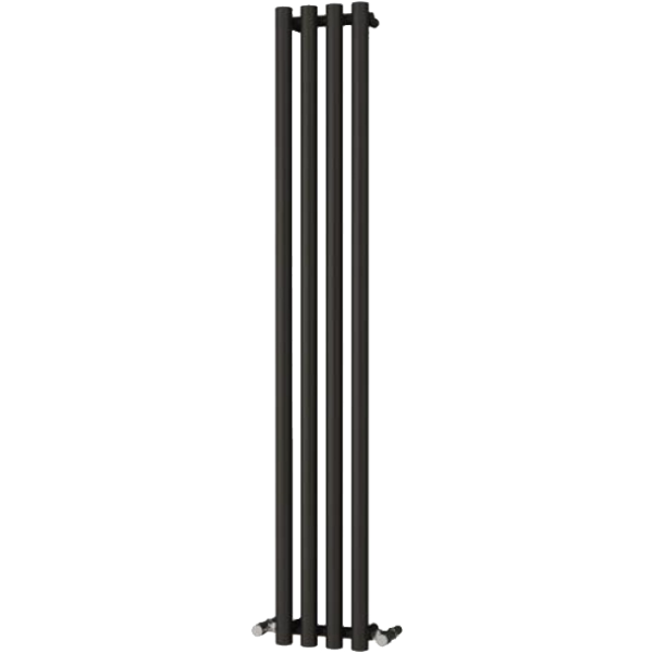 Picture of ORIA 270mm Wide 1800mm High BLACK Designer Bathroom Radiator