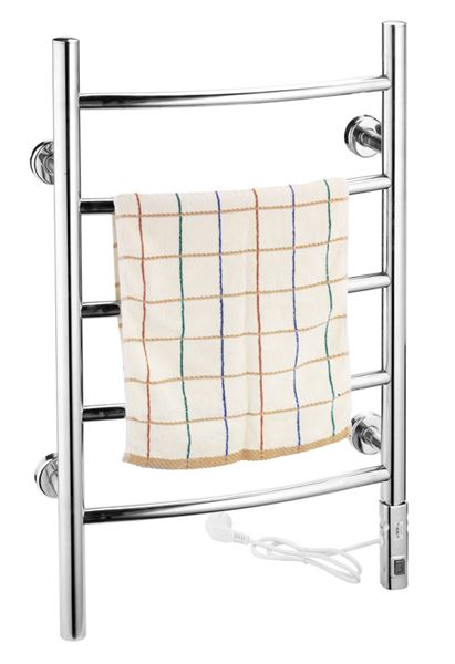 Picture of 500mm Wide 800mm High Stainless Steel Electric Towel Rail